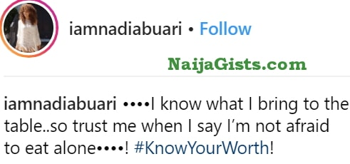 nadia buhari removes husband photos instagram