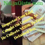 nigerian police inspector camera bribe