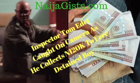 nigerian police inspector tom edet collect bribe free suspect imo state