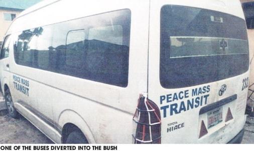 peace mass transit passengers kidnapped