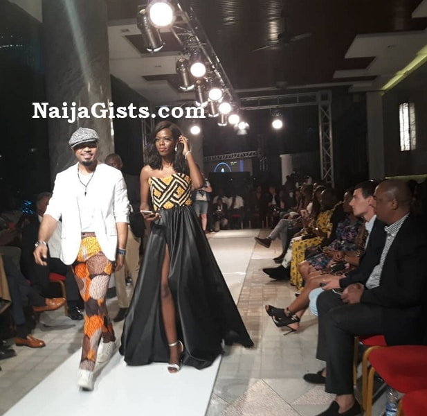 ramsey nouah on the runway