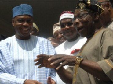 saraki apologises to obasanjo for missing library openin