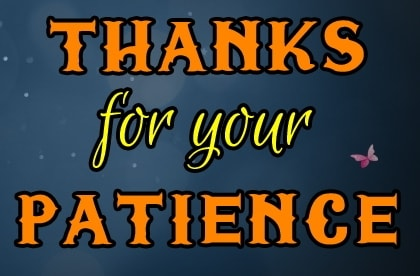 thanks for your patience