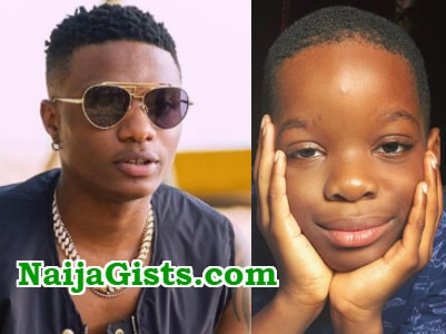 wizkid abandon first son photos