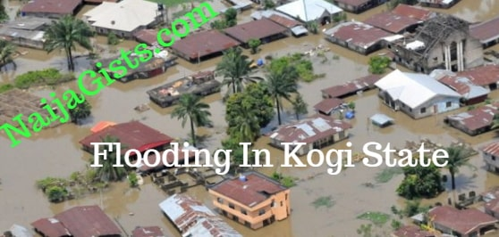 64 villages submerged in flood kogi state