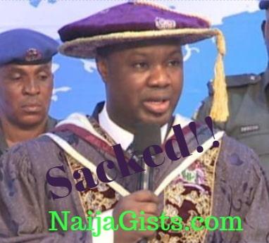 covenant university registrar sacked