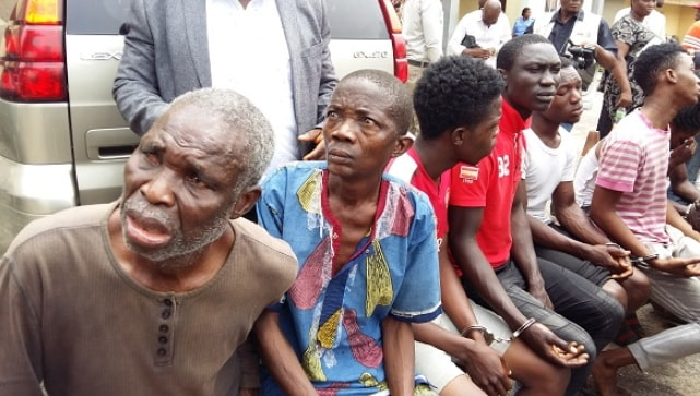 herbalists treating shot aiye cult members