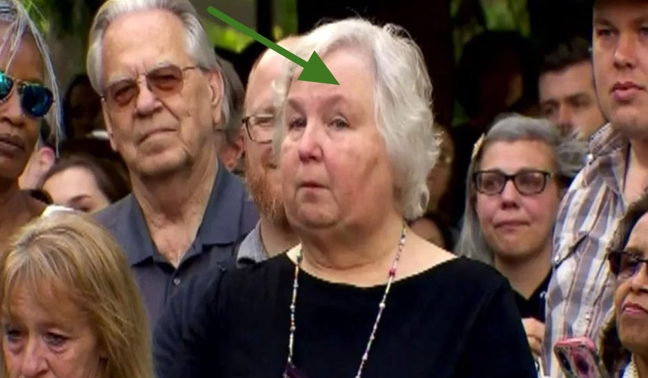 nancy brophy at late husband funeral