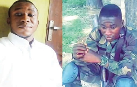 nigerian soldier stab man amazon cards