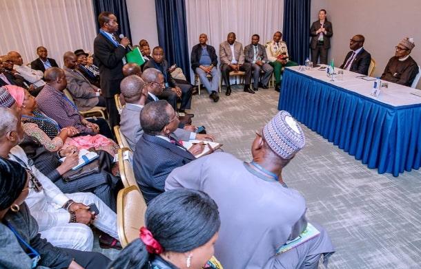 nigerians in new york meet buhari 2