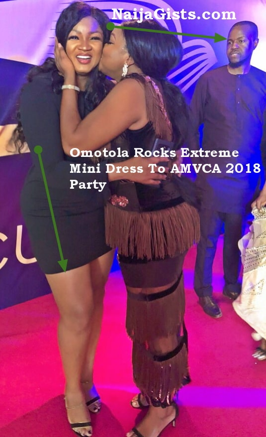 omotola jalade mini gown amvca 2018 party