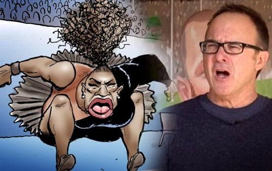 serena williams racist cartoon