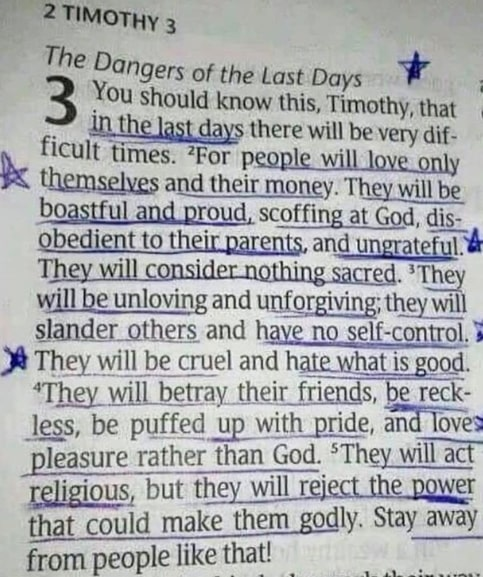 the dangers of the last days