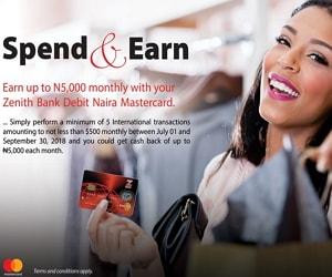 zenith bank mastercard promo
