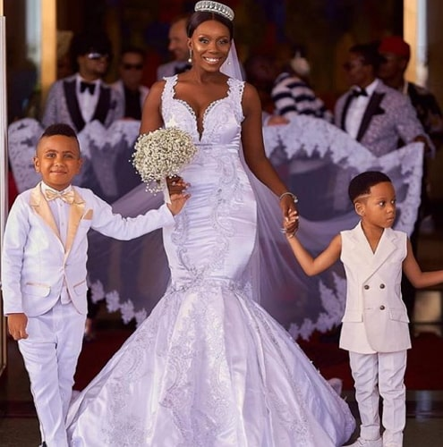 adam slim white wedding