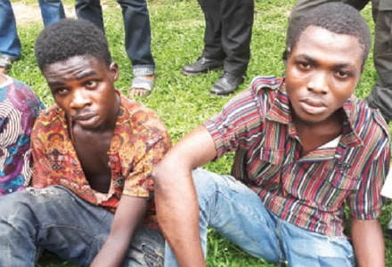 armed robbers beat up police benin edo state