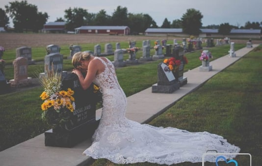 bride marries late fiance indiana