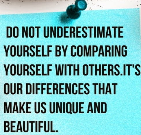 don't compare yourself with others quotes