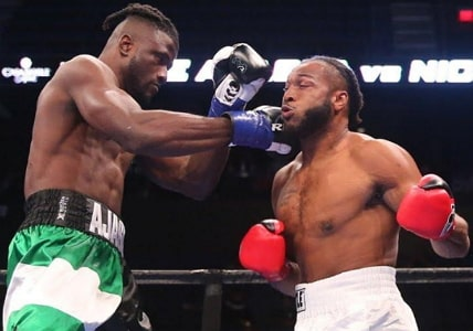 nigerian boxer knocks out american boxer first round