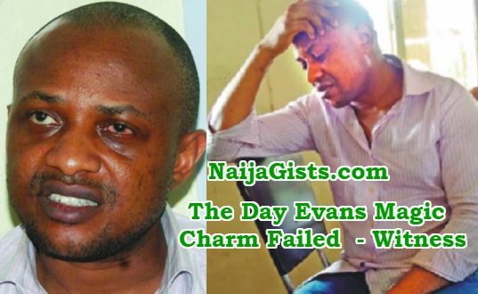 evans kidnapper disappearing charm failed