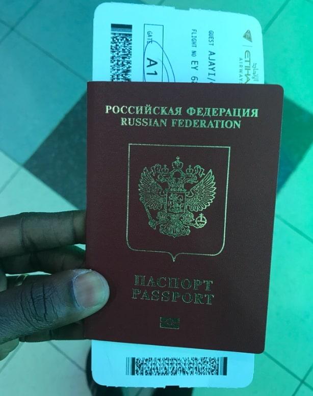 gabriel ajayi russian passport