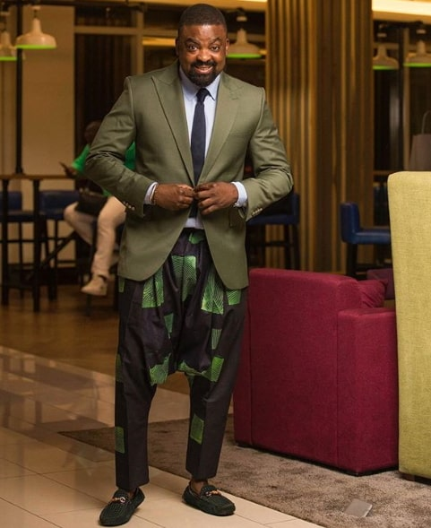 kunle afolayan kembe trousers suit