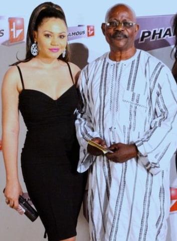 nadia buari adopted dad Ghanaian father