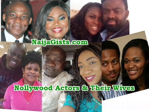 nollywood actors and their wives