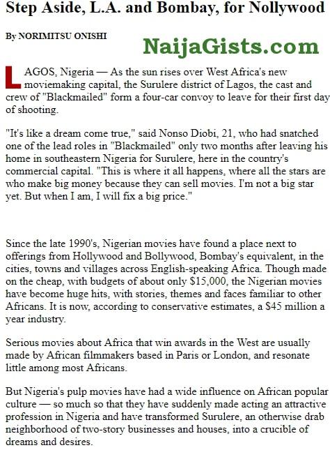 nollywood name origin