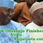 obasanjo disqualifies atiku becoming president