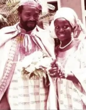 olu jacobs joke silva wedding photo
