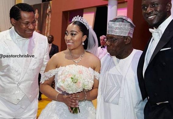 pastor chris daughter wedding absence wife