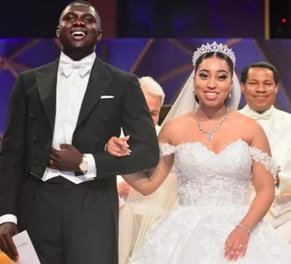 pastor chris sharon oyakhilome wedding dress