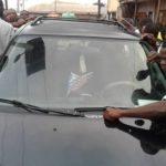 pastor flees church members car