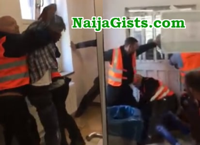 security guard torture nigerian asylum seeker germany