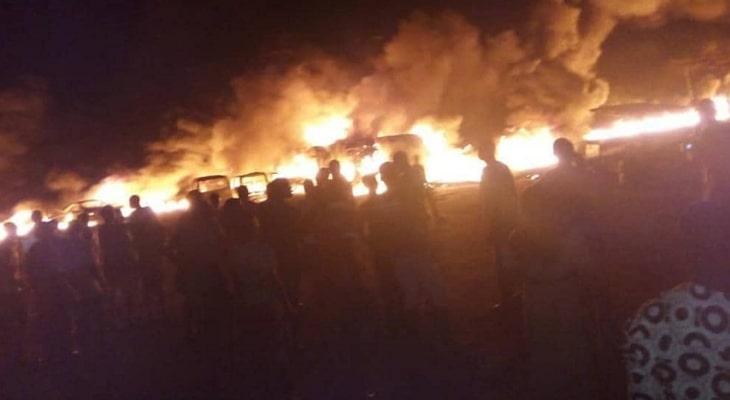 tanker explosion akure tonight