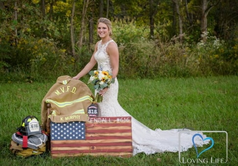 woman marries late fiance indiana photos