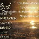 105 Uplifting Bible Verses To Fight & Overcome Depression, Suicidal Thoughts & Self Harm Spiritually