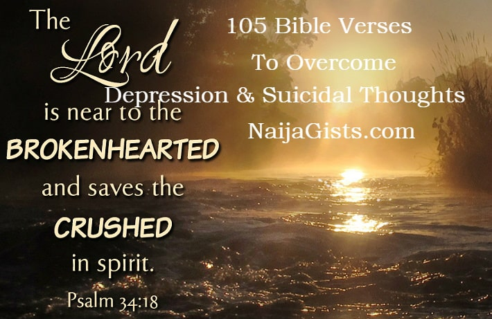 105 bible verses to overcome depression suicidal thoughts
