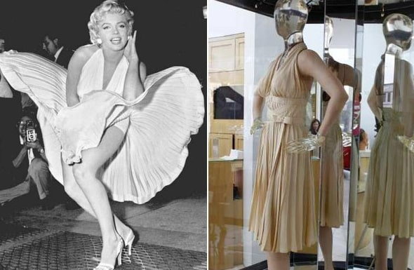 Marilyn Monroe subway dress most expensive gown world