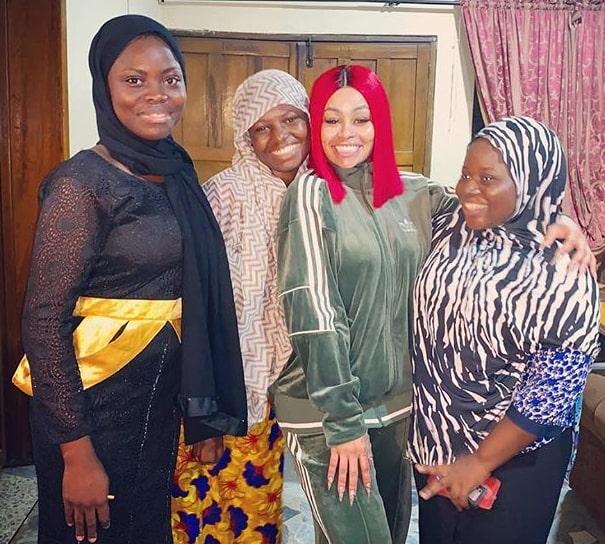 blac chyna visits islamic orphanage home lagos