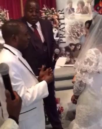 bride refuses groom kiss