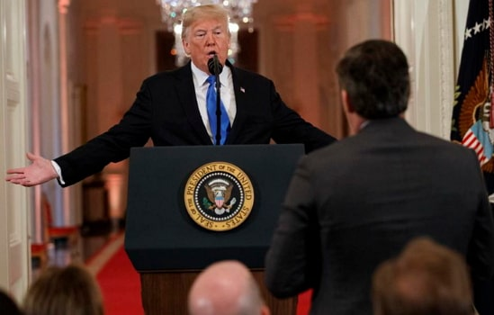 donald trump jim acosta video