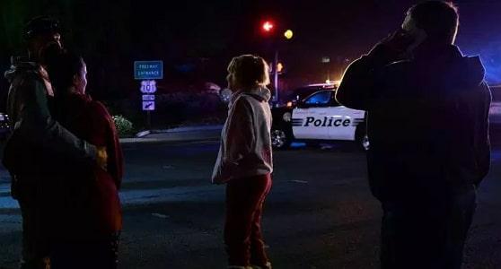 gunman throws bomb bar California