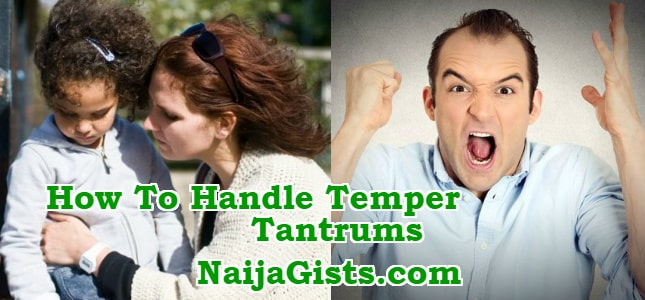 how to deal with temper tantrums children adults