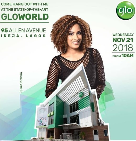 juliet ibrahim glo office allen avenue ikeja