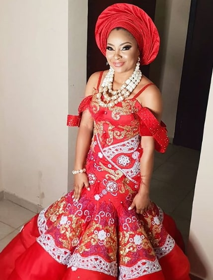 linda ejiofor wedding dress