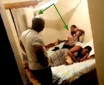 man catches cheating wife boyfriend