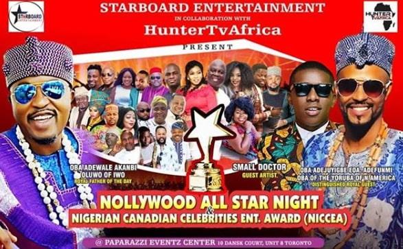 nigerian canadian celebrities entertainment award toronto