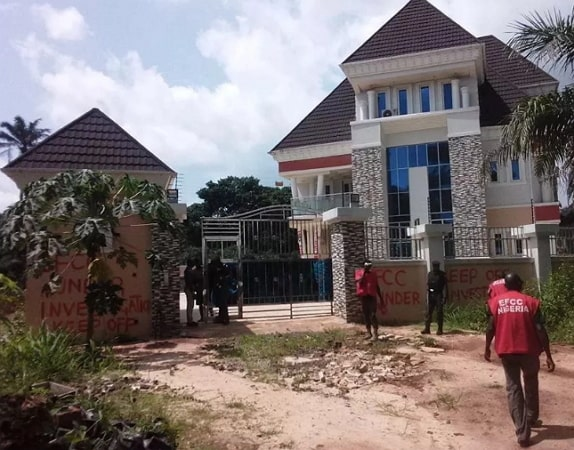 properties seized by efcc